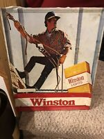 "Vintage Winston Cigarette Vintage Metal Tin Sign -1980 21"" X 17"""