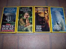 National Geographic Sealed VHS Lot: White House, Goodall, Keepers Wild, Arctic