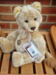 """Charlie Bears Lyra Lioness 17"""" 2015 with Tags"""