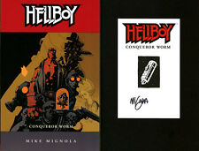 Mike Mignola SIGNED AUTOGRAPHED Hellboy Conqueror Worm SC BRAND New Book #5