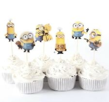 NEW Minions Theme Character Cupcake Toppers x 24 - For Parties