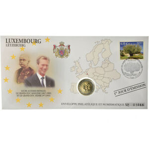 [#487289] Luxembourg, 2 Euro, 2005, Enveloppe philatélique numismatique, SPL, Bi