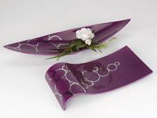 Keramik Auflage / Form Tablett Lalique in beere/silber - formano design