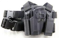 Airsoft Tactical CQC Drop Leg Left Thigh Holster for M9 M92 Berett Style Pistol