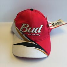 Bud King Of Beers Dale Jr. #8 Nascar Snapback Hat Chase Authentics Men Red