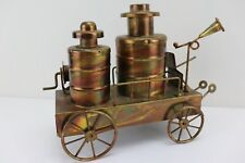 Copper Tin Delivery Wagon Music Box* Vintage Collectible Chinese Craftsmen