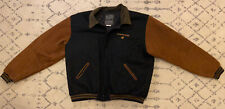 Converse Embroidered Golden Bear Varsity Jacket Leather Wool Size 3Xlt Great B6