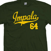 Impala 64 Script Tail Shirt - Muscle Lowrider Classic Car - All Sizes & Colors