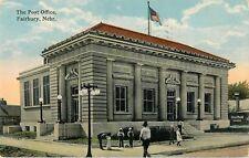 1914 The Post Office, Fairbury, Nebraska Postcard