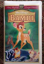 BAMBI- VHS (Disney) with Sticker/Proof Of Purchase/Inserts OOP