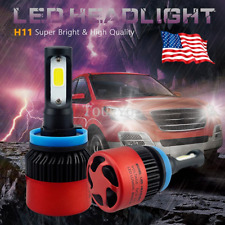 16000LM Low Beam Headlight H11 Ultra White LED Bulbs Kit for 07~17 Toyota Camry