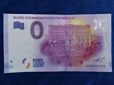 BILLET / Banknote - EURO - SOUVENIR - MUSEE OCEANOGRAPHIQUE DE MONACO 2016