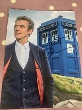 More details for genuine peter capaldi, doctor who hand signed photo, 20cm x 15cm