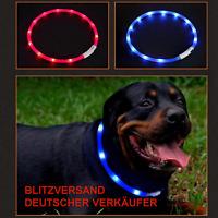✅ Hundehalsband LED Silikon Leuchthalsband Halsband Hunde/Katzen USB Aufladen ✅