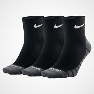NIKE Dri-Fit Long Men's Training Crew Cushioned Cotton Sports Socks UK6-11