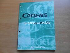 Werkstatthandbuch Schaltpläne Stromlaufpläne KIA Carens Modelljahr 1999