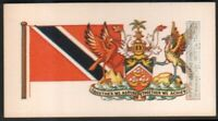 Flag And Standard - Banner For Trinidad And Tobago  c50 Y/O Trade Ad Card