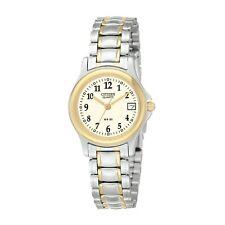 Citizen Women's EU1974-57A Quartz Easy Reader Two-Tone Bracelet 25mm Watch