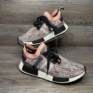 Adidas NMD R1 W PK Shoes Women's Pink Camo Sun Glow Core Black BB2361 Size 10