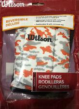 Wilson deluxe volleyball knee pads orange camo reverisble deluxe Junior size