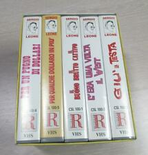 5 videocassetta vhs film western cofanetto SERGIO LEONE Clint Eastwood