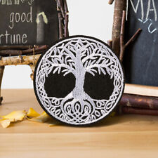 Black Tree Embroidered Iron On Sew On Patch Badge Fabric Craft Sticker Transfer