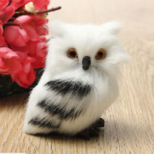 Artificial Fur Plush Fluffy Owl Christmas Tree Hanging Home Party Decor Ornament