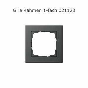 Gira System 55 Anthrazit E2 Steckdosen, Rahmen, Schalter, Abdeckungen Auswahl
