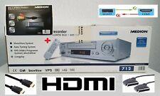 VHS Videorekorder Long Play MEDION MD-42277 NEU mit HDMI Full HD und USB Grabber