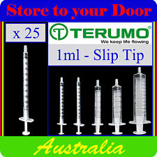 25 x 1ml Terumo Syringe Tuberculin SLIP TIP Syringes only - No Hypodermic Needle