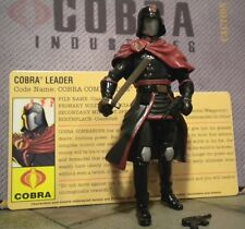 GI JOE ~ 2009 COBRA CRIMSON COMMANDER ~ RESOLUTE ~100% COMP & FILE CARD ~ BAT