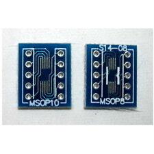 SMD CONVERTER ADAPTER PCB MSOP8 MSOP10 - 0.5 mm - UK SELLER #753