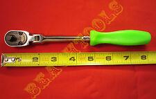 "New Snap On 1/4"" Drive Green Hard Handle Ratchet Sealed Flex Head THLFD72"