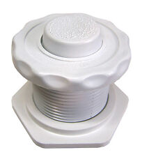 Air Button - White with Raised Button (Helps Prevent Finger Nail Breakage)