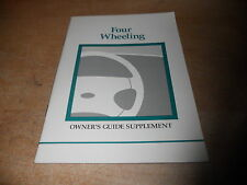 1997 FORD F150 F250 F350 EXPLORER 4x4 OWNERS MANUAL SUPPLEMENT BOOKLET