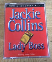 Jackie Collins - LADY BOSS 2 Cassette Tapes Running Time 3 Hours Audio Tape