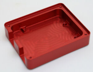 Custom Made CNC Machined Aluminium Red Anodised Arduino Uno Compatible Case