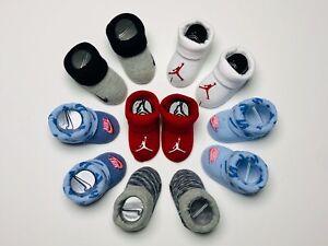 AIR Nike Jordan Baby Boys & Girls ASSORTMENT of 6 Pairs of Booties. 0-6 Months.