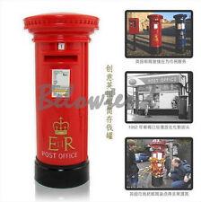 Retro British London Letter Post Box Piggy Bank Money Box For Saving Coins Cash