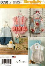 Simplicity Sewing Pattern 8098 Baby Romper Sandals Stuffed Duck Size XXS-L NEW