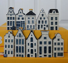 *** Lot of TEN different KLM Miniature Pottery Houses - Blue Delft Style ***
