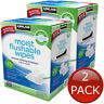 2 x KIRKLAND SIGNATURE MOIST FLUSHABLE WIPES 632 WET WIPE CLEANSING HYGIENE CARE
