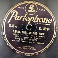 78 rpm EVE BOSWELL ready willing and able / pam poo dey