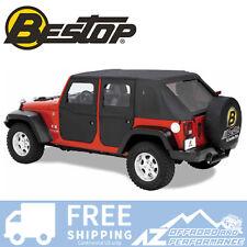 Bestop 2 Piece Rear Soft Doors 07-17 Jeep Wrangler Unlimited JKU Black Diamond