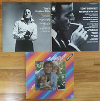 Lot of TONY BENNETT Record LP Vinyl pop rock jazz  play graded