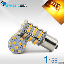 4x 1156/1259 BA15S 54-SMD LED 171LM Amber Yellow Turn Signal Blinker Light Bulbs