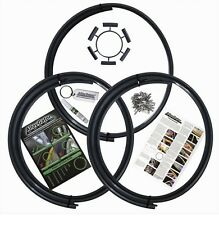 """AlloyGator Alloy Wheel Protection Protector Set of 4 BLACK Fits 13"""" to 21"""" Rims"""