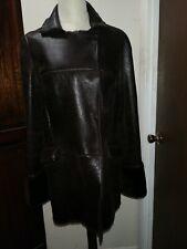 3b0daf33545 Miu miu women shearling brown coat size 40
