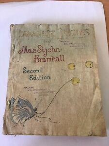 Japanese Jingles Mae St John Bramhall 2nd Ed 1853 vintage rare crepe paper book