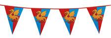 Guirlande fanions anniversaire chevaliers dragons médiévale garcon decoration